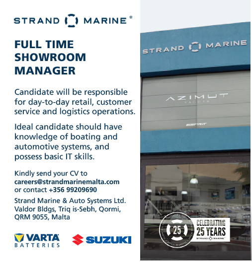 FULL TIME SHOWROOM MANAGER