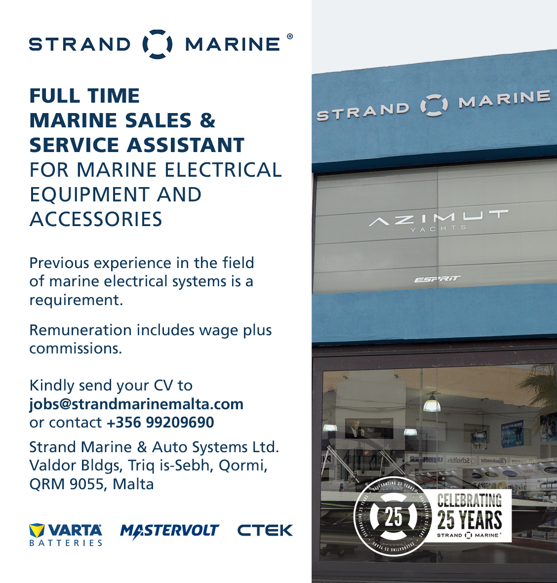 Full Time Marine Sales & Service Assistant